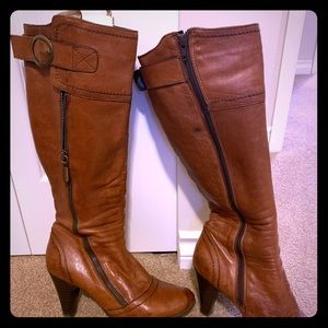 Soft Italian leather long boots size 8